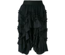ruffled knee-length shorts