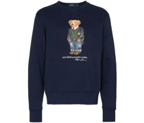 Sweatshirt mit Teddy-Print