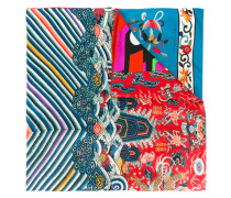 Schal mit Print - women - Seide/Baumwolle