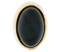 18kt gold black Tiger Eye earring