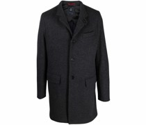 single-breasted high-collar coat