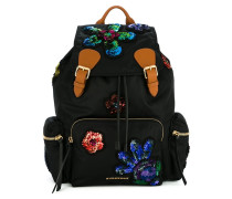 sequinned patches backpack