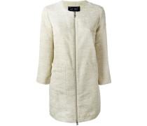 Gewebter Mantel mit Reißverschluss
