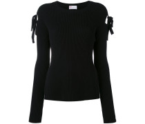 cut-out detail ribbed jumper - women