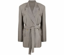 peak-lapel tied-waist blazer