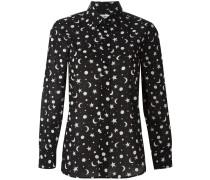 star and moon print shirt