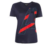 T-Shirt mit Initialen-Print