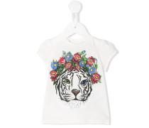 T-Shirt mit Tiger-Print