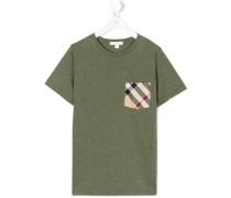 T-Shirt mit Karo-Brusttasche