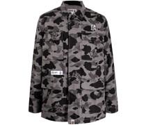 A BATHING APE® Hemd mit Camouflage-Print