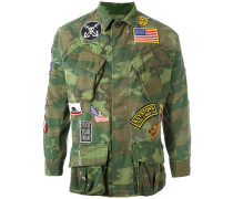 Military-Jacke mit Patches - men - Baumwolle - M