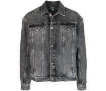 Jeansjacke mit Stone-Wash-Optik