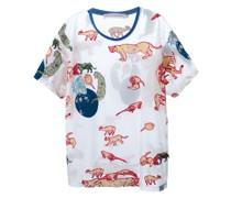 T-Shirt mit Tierstickereien
