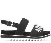 - 'Nadi' Flatform-Sandalen mit Schmucksteinen