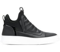 slip-on hi-top sneakers