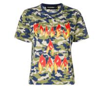 T-Shirt mit Flammen-Print