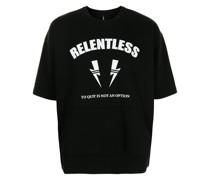 slogan-print T-shirt