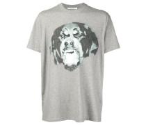 T-Shirt mit Rottweiler-Print