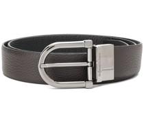 logo-buckle classic belt