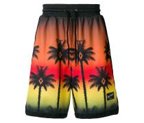 palm sunset bermuda shorts