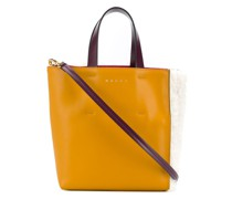 sherling panelled tote bag