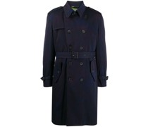 doubled-breasted belted trench coat