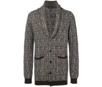 open neck buttoned cardigan