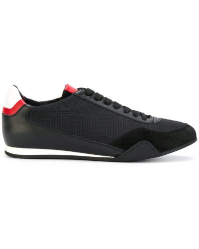 contrast Greek key sneakers