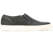 Gewebte Slip-On-Sneakers - men - rubber/Leder