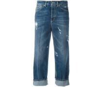 CroppedJeans in DistressedOptik