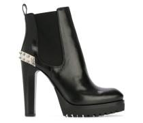 'Mod' Stiefel - women - Kalbsleder/Leder/rubber