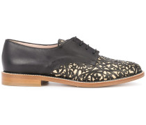 Oxford-Schuhe mit floralen Cut-Outs - women