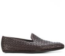 intrecciato woven loafers