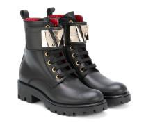 Stiefel mit metallischem Einsatz