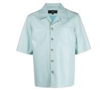 Kurzärmeliges Lederhemd