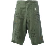 graffiti cargo shorts
