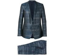 Zweiteiliger Anzug im Metallic-Look