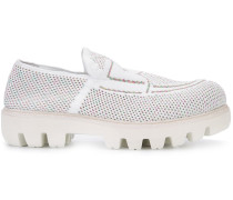 Perforierte Loafers - women - rubber/cotton