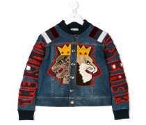 appliquéd denim jacket