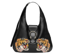 Dionysus embroidered maxi leather hobo
