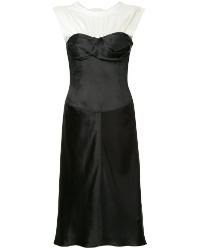 Satin Twisted Cup dress
