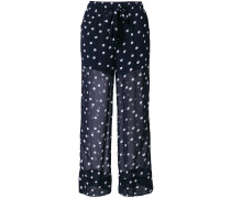 polka dot sheer trousers