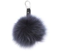 rabbit fur keyring