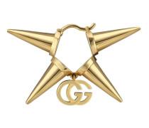 18kt 'GG Running' Gelbgoldohrring