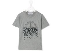 T-Shirt mit pixeligem Logo-Print