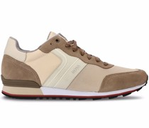 suede running-style sneakers