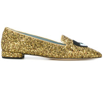 glitter encrusted loafers