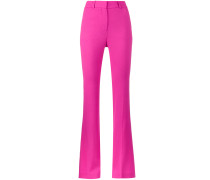 high waisted flared suit trousers