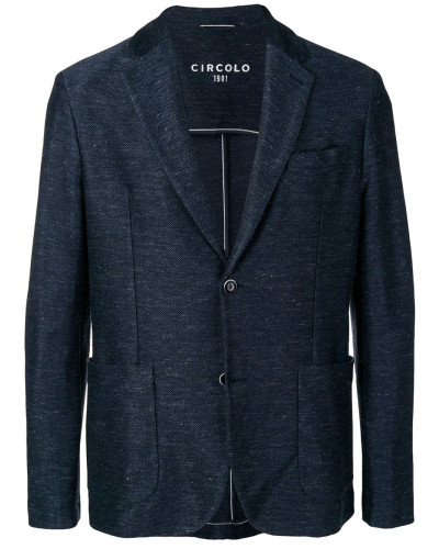 fitted knit blazer