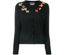 butterfly embellished cardigan